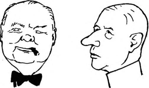 Шаржі на двох відомих політичних діячів