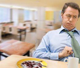 Механізм виникнення відрижки після їжі