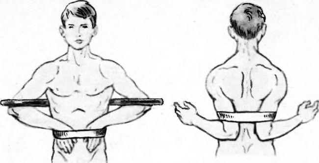 Іммобілізація при переломі ключиці за допомогою палиці